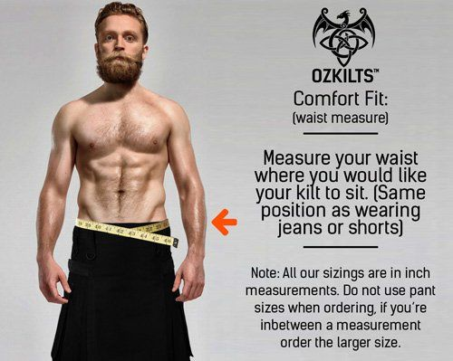Comfort Fit Waist Measure Guide