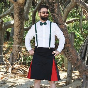 Red Hybrid Utility Kilt Hero Shot